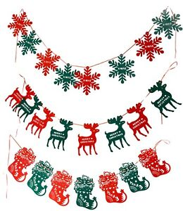 2M-Christmas-Pennant-Party-Decoration-Flags-Banner-Bunting-Snowflakes-Reindeers