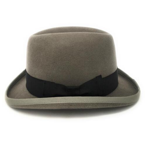 Homburg Mens Hat Wool Felt Lined Winston Churchill Classic Hat  S//M//L//XL//XXL