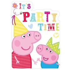 6 Peppa Pig Party Invitations Birthday Cards Envelopes *FAST DISPATCH* UK SELLER