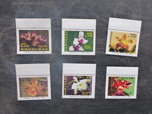2002-HONDURUS-ORCHIDS-SET-6-MINT-STAMPS