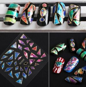 10-Sheets-Nail-Art-Transfer-Stickers-3D-Diamond-Manicure-Tips-Decal-Decoration