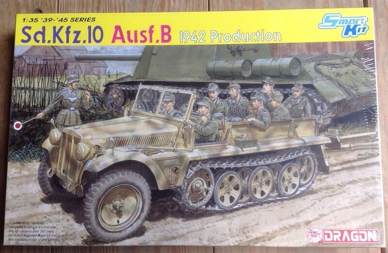 Dragon 1 35th Scale Sd.Kfz.10 Ausf. B 1942 Production Kit No. 6731 New Sealed