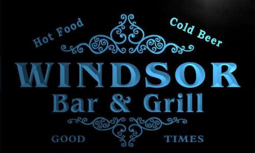 u48643-b WINDSOR Family Name Bar /& Grill Home Decor Neon Light Sign