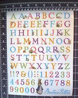 89p Beatrix Potter Peter Rabbit Big Stickers Alphabet Garden Baby Scrapbook