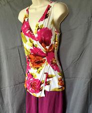 Diane Von Furstenberg  Viscose  Women's  Faur Wrap Top Blouse M