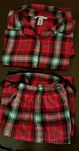 Victoria Secret Pajama Set Red Plaid
