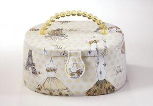 Naehkaestchen-Box-Naehkorb-oval-Textil-braun-beige