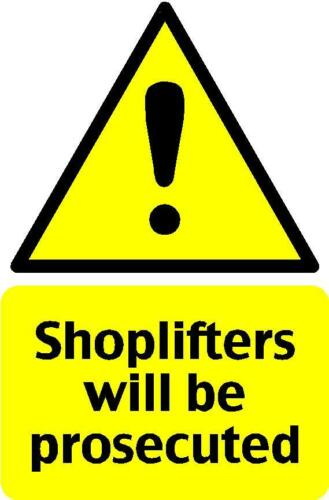 Business Sticker Decals Vinyl Graphic 1 1 x Shoplifters Sign for shop window