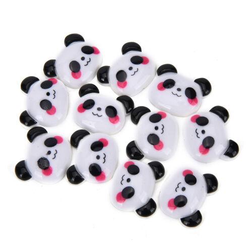 10X Panda Cabujón Flatback pelo de caballo arco centro Craft embellecer 、 Pop