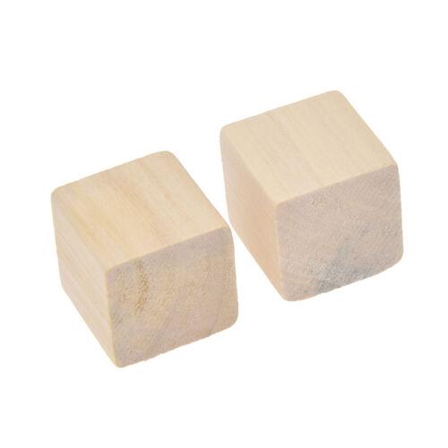 Natürlich Kiefern Holz Würfel DIY Baukasten 25mm Spielzeug Für Kind x20 Geschenk
