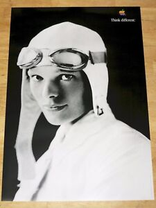 Apple-Think-Different-Affiche-Amelia-Earhart-24-x-36-By-Steve-Emplois-61-X