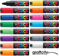 UNI POSCA PC-8K MARKER PENS - FULL RANGE - 35 COLOURS - PAINT MARKER PEN