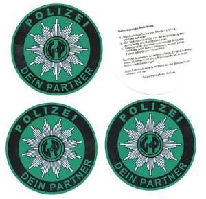 Autostern Vornehm 3 Stück Gdp Rabatte Verkauf Polizei Aufkleber