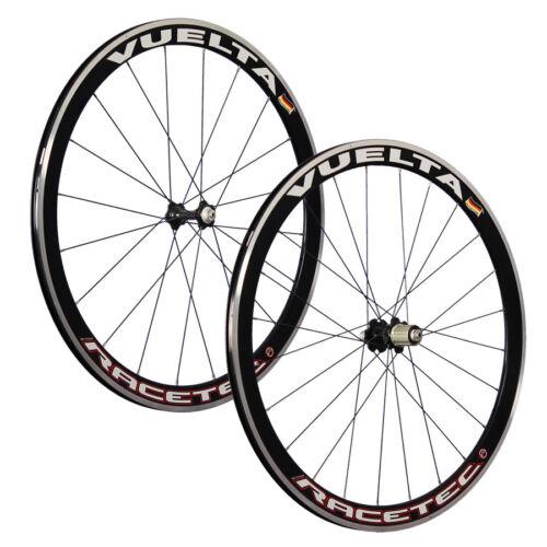 VUELTA 28 pouces ensemble roues vélo de course Racetec JoyTech 622-13 noir