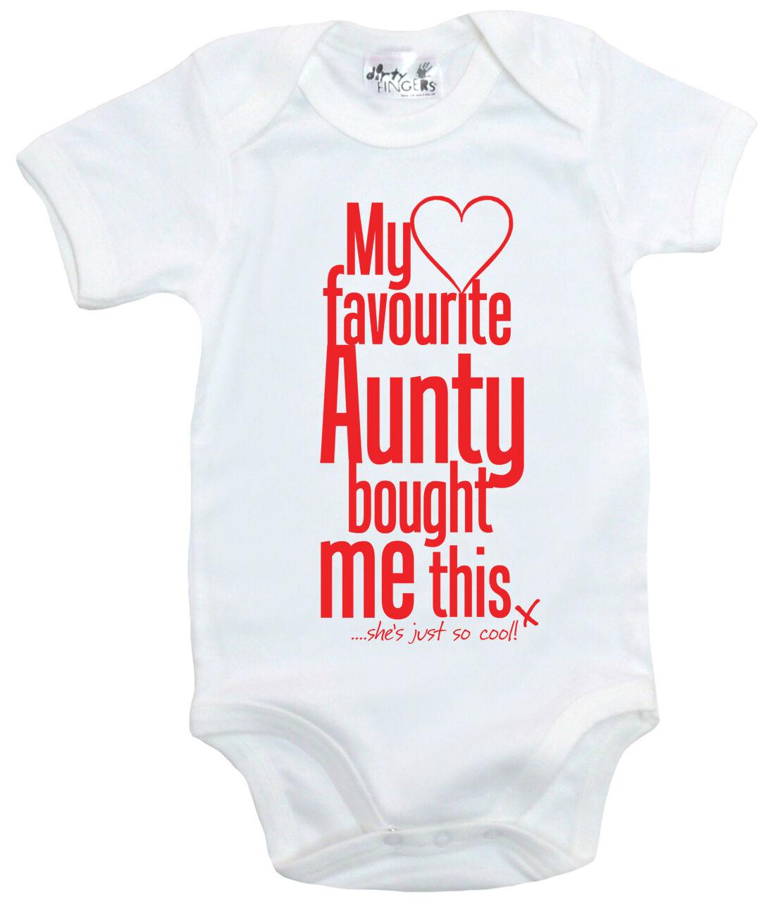 "Auntie Baby Bodysuit /""I Love My Aunty This Much/"" Trimmed Babygrow Niece Nephew"