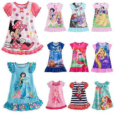 Filles Enfants Bébé Chemise de Nuit dessin animé DISNEY pyjama pyjama 2-13 An
