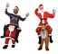 Ride-On-Santa-Rudolph-Costume-Christmas-Fancy-Dress-Piggy-Back-Santa-Costume thumbnail 1