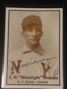Details About Aw Doc Moonlight Graham Shoeless Joe Jackson Field Of Dreams Rookie Card