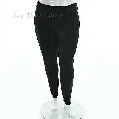 Simply Vera Wang Womens PLUS 2X High Rise Micro Suede Black Leggings Front Seam
