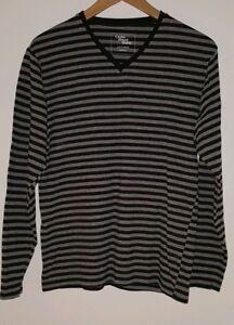 Herrenmode Mens Night Wear Top S Black & Grey~mj2645 Spezieller Sommer Sale