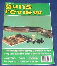 GUNS REVIEW MAGAZINE SEPTEMBER 1992 - THE BROWNING SPECIAL SPORTING CLAY EDITION