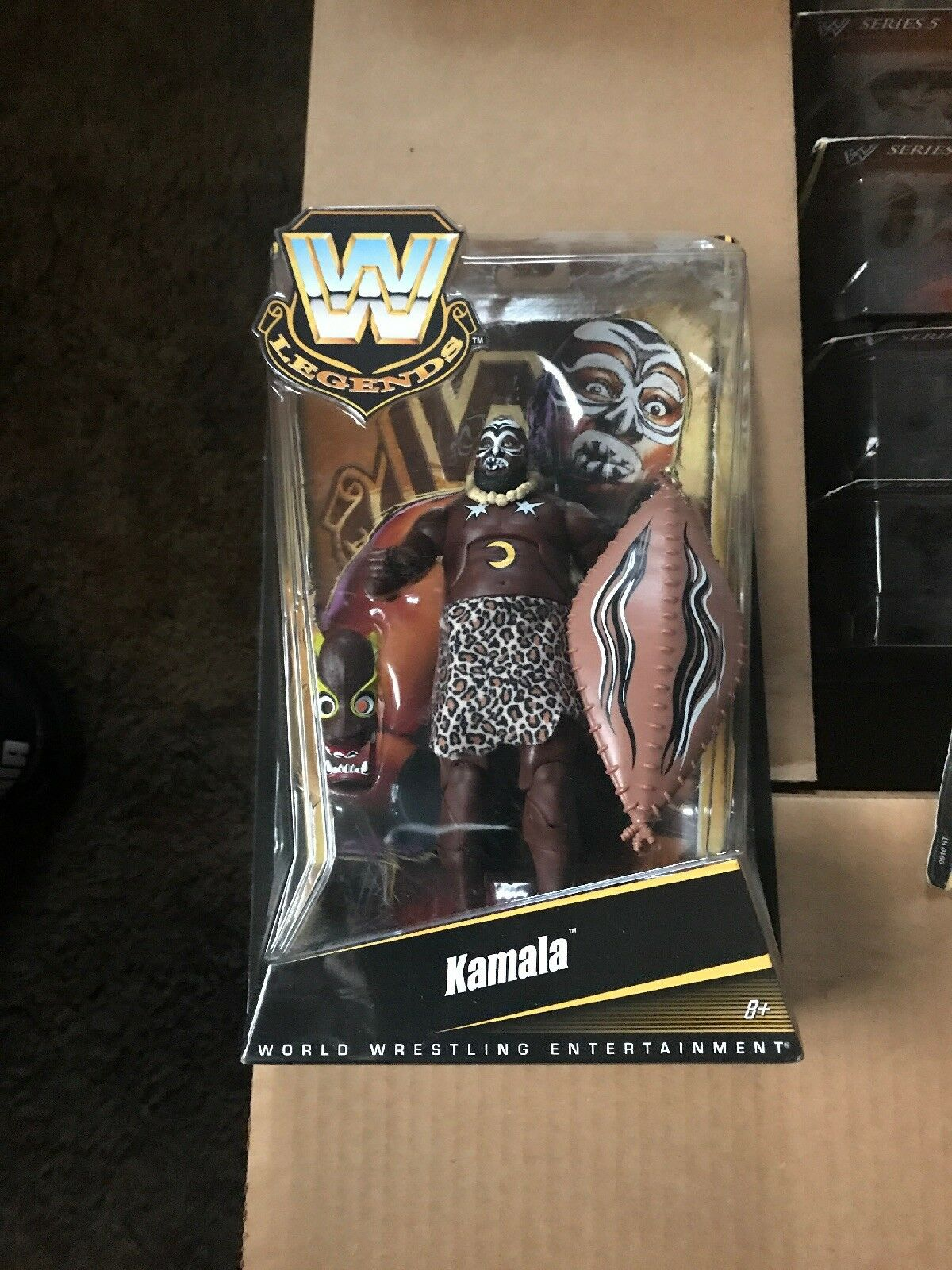 Mattel- Wwe Legends SERIES 2 Kamala Collector Figure NEW IN BOX