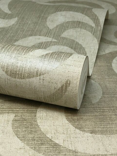 Gold White Floral Wallpaper Flowers Leaves Kenneth James Paste The Wall