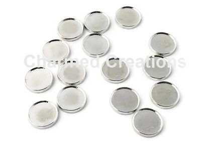 DIY Blank Circle Floating Charms For Glass Memory Lockets Custom Picture Photo