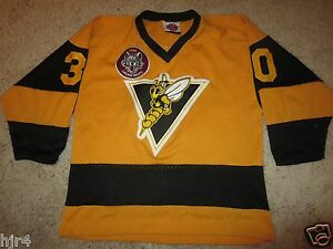 Image is loading Chicago-Wolves-NIHL-Yellow-jackets-Hockey-Jersey-Youth- f818ae7e29c