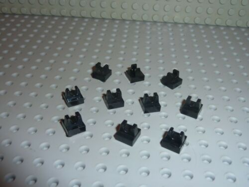 LEGO 10 black Tile 1 x 1 with Clip ref 2555 //Set 10211 7181 10175 10019 6965 ...