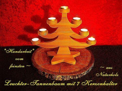 Tischleuchter,7 flammig,aus Naturholz,ROMANTIK PUR f.Teelichter u Kerzen Stump