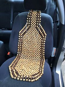 Image Is Loading Wooden Bead Maple Car Van Taxi Front Seat