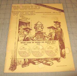 WORLD WEEK (Nov 11, 1964) Fair+ Condition Scholastic Career Magazine