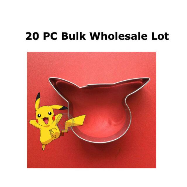 Bulk 20 PC Pikachu cookie cutter lot Pokemon go biscuit fondant wholesale