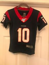 Navy Outerstuff Youth Girls Houston Texans #10 DeAndre Hopkins Dazzle Jersey