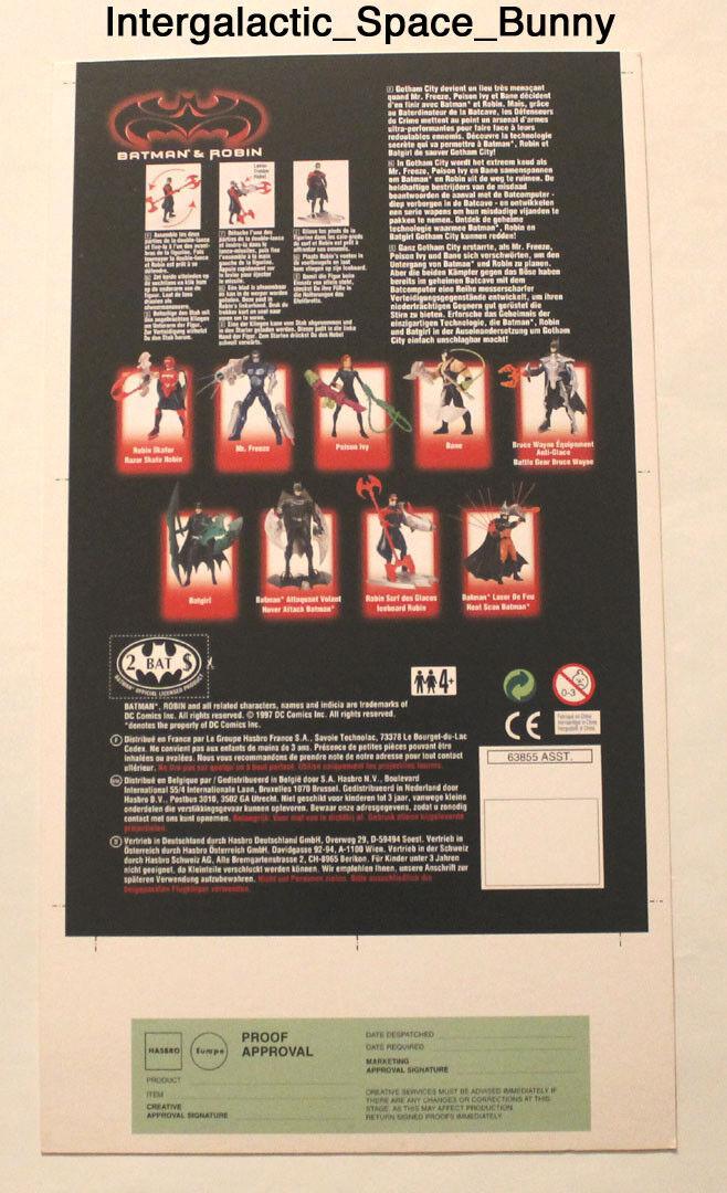 1997 Kenner Batman & Robin Iceboard Robin Proof Karte Prototype Vorproduktion