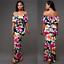 Women-Off-Shoulder-Summer-Beach-Floral-Evening-Party-Cocktail-Bodycon-Maxi-Dress thumbnail 8