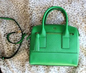 Kate Spade Southport Avenue Alessa Green Satchel Handbag WKRU1801 ...