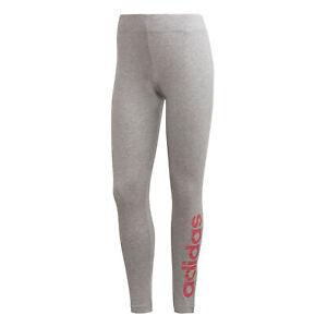 adidas-Essentials-Linear-Womens-Ladies-Fitness-Gym-Legging-Grey-Pink