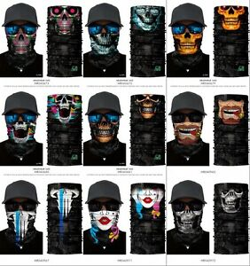 Tour-de-Cou-Moto-Tete-de-Mort-Clown-3D-Crane-Cagoule-Masque-Multifonction-Homme