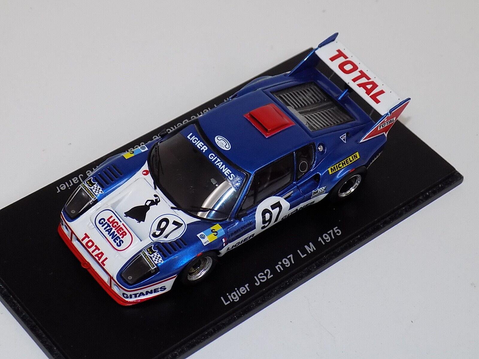 1 43 Spark Ligier JS2 voiture  9 de 1975 24 H LeMans S0552