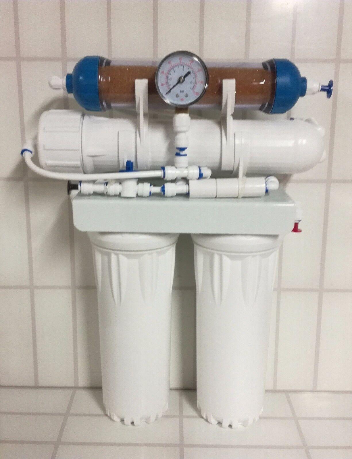 L51 4 Stage 50 100 150 GPD RO Reverse Osmosis System unit with DI aquaium fish