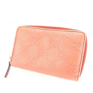 c3f2754b54de5d Gucci Wallet Purse Coin Purse Guccissima Pink Woman Authentic Used ...