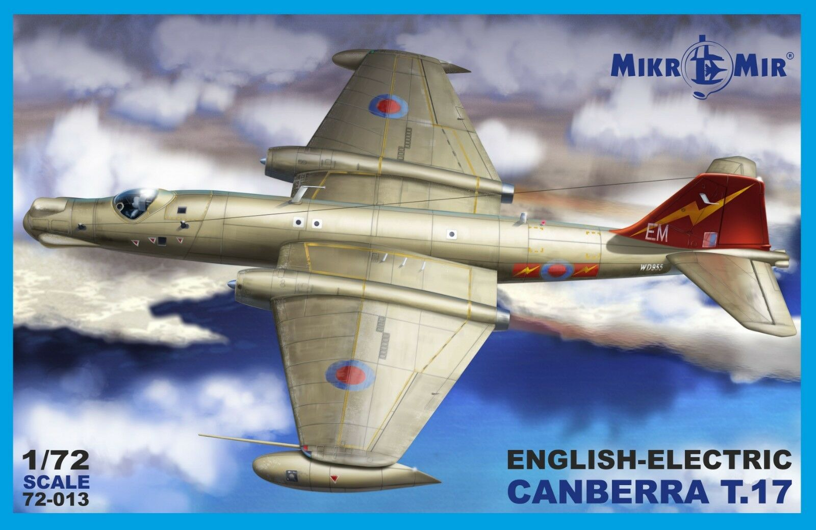 Plastic model airplane ENGLISH ELECTRIC CANBERRA T.17 1 72 scale MicroMir 72-013