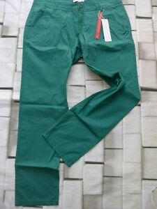 Sheego-Damen-Jeans-Stoffhose-hose-Gr-52-Long-blau-Gruen-Ton-734