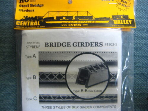 HO Concrete PIERS FOOTINGS for  Central Valley Bridge Girders #1902-5 TYPE C