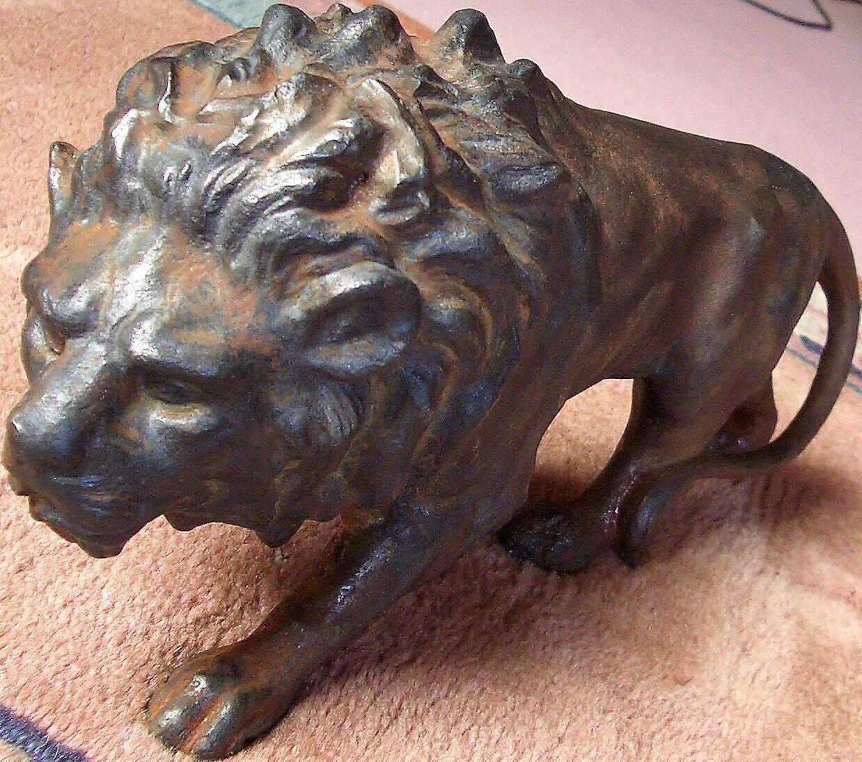 Löwe, Eisen, Eisenklotz, massiver Eisenlöwe, Jagd Safari ca. 8,7 Kilo Türstopper