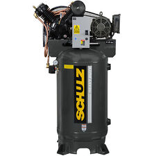 Schulz V Series Single Phase 75 Hp 80 Gallon Two Stage Air Compressor 1 Ph