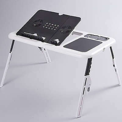 E Table Multi Function Laptop Table Foldable Portable with Cooling Fans
