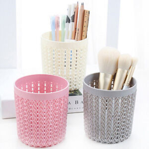 Details about Hollow Cylinder Cosmetic Makeup Brush Holder Box Pen Storage  Organizer Tools US